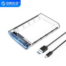 <b>ORICO 2.5 inch</b> Transparent <b>Hard Drive</b> Enclosure with Stand USB ...
