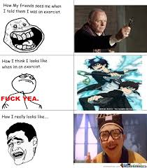 Ao No Exorcist Memes. Best Collection of Funny Ao No Exorcist Pictures via Relatably.com