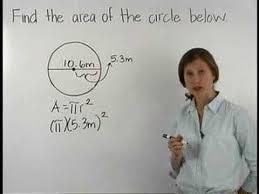 Area of a Circle - MathHelp.com - Math Help - YouTube