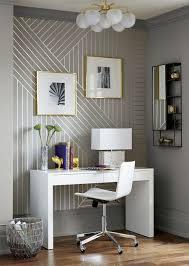 Modern Wallpaper For Bedrooms Diy Linear Wallpaper Patterns Masking Tape And Silver