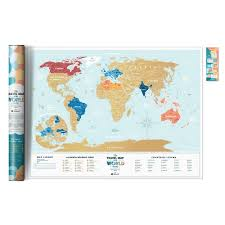 "Скретч-<b>карта</b> мира <b>Travel Map</b> Holiday ""World Lagoon"" бренда ..."