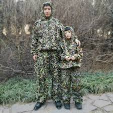 Outdoor <b>Ghillie Suit</b> Men Women <b>Kids Camouflage</b> Clothes Hunting ...