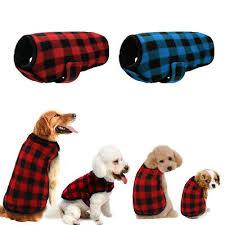 Plaid Small <b>Dog Clothes Winter Soft</b> Puppy Pet Coat Jacket Apparel ...