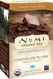 Numi <b>Organic Tea</b>, <b>Chocolate Puerh</b>, <b>Tea</b> Bags, 16 Ct - Walmart.com ...