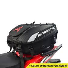 Waterproof <b>Motorcycle</b> Tail Bag <b>Multi Functional Durable Rear</b> ...