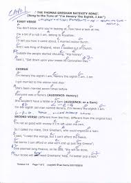writing ian louis harris the thomas gresham nativity song my chords and hand written chords