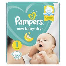 Pampers (<b>Памперс</b>) <b>подгузники new baby-dry</b> 1 № 27 д/новорожд ...