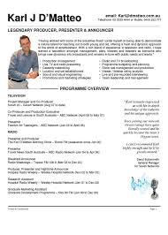 resume cover letter samples broadcasting resume builder resume cover letter samples broadcasting career resume samples organized by occupation television resume theater student resume