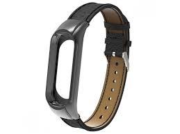 <b>Aксессуар Ремешок Apres для</b> Xiaomi Mi Band 3 Leather Strap Black