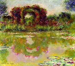 art artists claude monet part  claude monet 1913 rose arches at giverny aka the floral arch oil on canvas