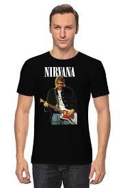 "<b>Футболка классическая</b> ""Nirvana Kurt Cobain <b>Live</b> & Loud t-shirt"""
