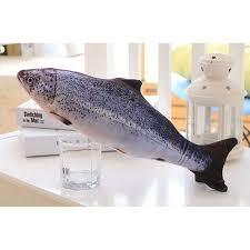 <b>Pet</b> Soft Plush 3D Fish Shape Cat Toy Interactive Gifts Fish Catnip ...