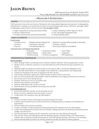 good restaurant resume example