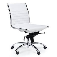 malcolm armless chair white armless office chair wheels