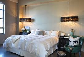hanging pendant lights and overscale bedside lighting ideas