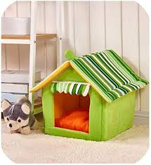 <b>Striped Removable</b> Cover Mat <b>Dog House Dog</b> Beds Small Medium ...