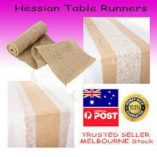 <b>Hessian</b> Natural <b>Burlap Jute</b> Table Runner Fabric for Vintage <b>Rustic</b> ...