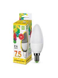 Светодиодная <b>лампа ASD</b> LED-<b>Свеча</b>, E14, C37, 7.5 Вт, 3000K ...