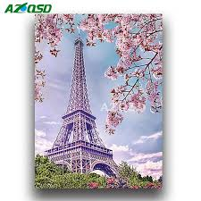 2019 <b>AZQSD</b> Full 5D DIY <b>Diamond Painting</b> Paris Tower Diamond ...