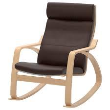 POÄNG <b>Rocking</b>-<b>chair</b> - birch veneer, Glose dark <b>brown</b> - IKEA