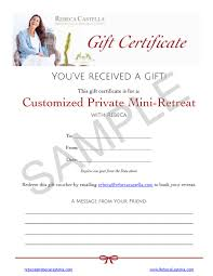 gift certificates rebeca castella sample gift certificate from rebeca castella