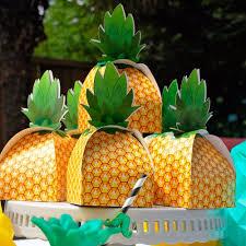Party Favor Box <b>Pineapple Candy Boxes</b> Hawaii Luau Birthday ...