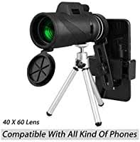 <b>40X60</b> HD <b>Monocular</b> Telescope with Phone Clip&Tripod, High ...