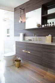 bathroom features gray shaker vanity: view full size brown laminate veneer floating bathroom vanity brass hardware