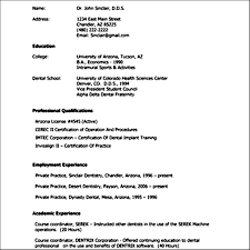show an example of a curriculum vitae samples examples show an example of a curriculum vitae
