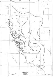 Isoseismal Map for the 1906 San Francisco Earthquake