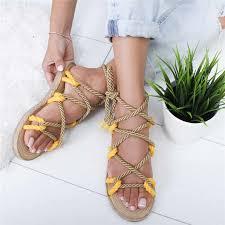 PUIMENTIUA <b>2019</b> Fashion Rope <b>Women Sandals</b> Summer <b>Shoes</b> ...