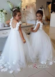 <b>Lovely</b> White <b>Flower Girl</b> Dress | <b>2019</b> Tulle Long Girls Pageant ...