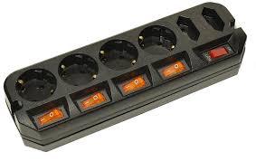 <b>Сетевой фильтр Most</b> ARG (6 розеток), черный — купить в ...