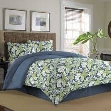 colored bedroom furniture sets tommy: tommy bahama key largo place indigo  piece comforter set