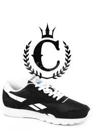 Reebok CL <b>Nylon Black</b>/<b>white</b> – Culture Kings
