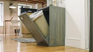 Kitchen Cabinet Garbage Drawer How To Make A Hidden Trash Can Cabinet Danmade Watch Dan Faires