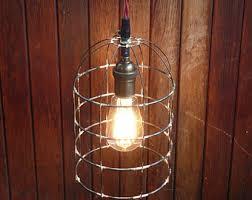 caged pendant light bell jar lighting birdcage hanging light rustic lighting handmade steel light fixture bell jar lighting fixtures