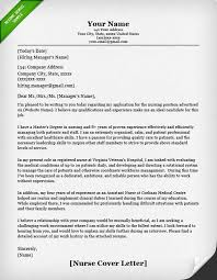 nursing cover letter example how does a cover letter look like