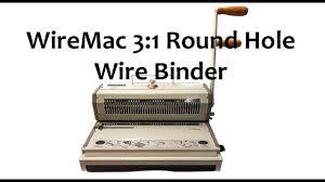 <b>WireMac</b> 3:1 Round Hole <b>Wire Binder</b> - YouTube