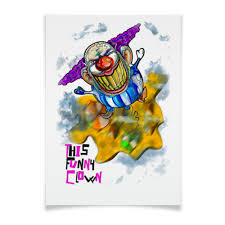 <b>Плакат A3</b>(<b>29.7</b>×<b>42</b>) Смешной клоун #2265780 от Leichenwagen