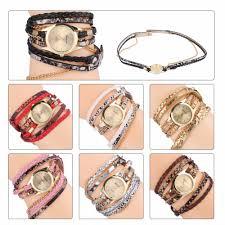 <b>Women</b> Bracelet Watch <b>Relojes Mujer</b> Vintage Braided Weave Wrap ...