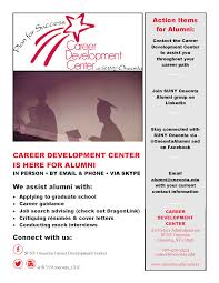 the career development center senior checklist