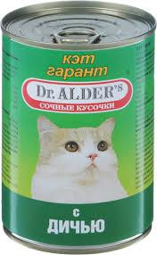 """<b>Консервы Dr. Alders</b> """"<b>Cat Garant</b>"""" для взрослых кошек, с дичью ..."""