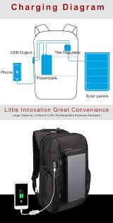 KINGSONS <b>Solar Charging</b> Backpack Business Laptop Bag with ...