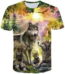 3D Wolf Printed Men's Casual Fashion Crewneck ... - Amazon.com