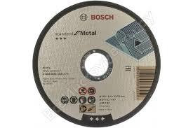 <b>Круг отрезной по</b> металлу Standard (125x1.6х22.2 мм) Bosch ...