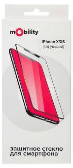 Купить Защитное стекло <b>mObility</b> для iPhone X/XS Full Screen 3D ...