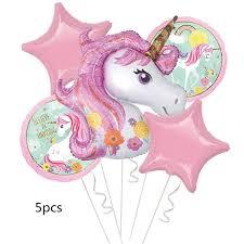 AnQing 1PCS 100*97CM Pink Horse Pony <b>Unicorn Foil Balloons</b> ...