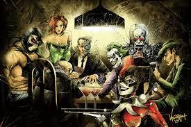 Batman Joker Harley Quinn Playing Poker Art Canvas Poster ...