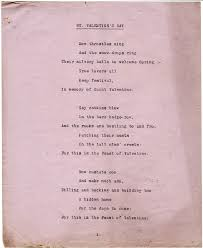 essays relativelyfrank page  poem st valentine s day 3 verses